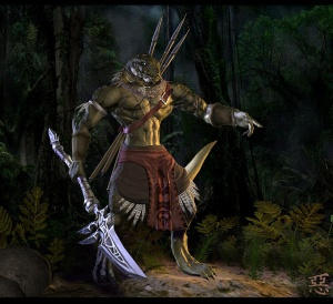 Aphashia__Lizardman_Warrior_by_Shinsen
