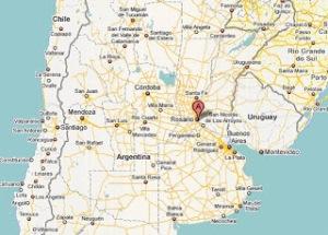 mapa PARALELO 33 SUR